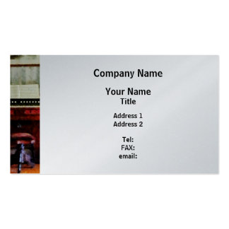 Organ and Swivel Stool - Platinum Finish Double-Sided Standard Business Cards (Pack Of 100)