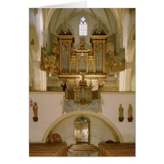 Organ, c.1618 greeting card