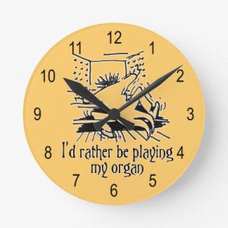 Organ cartoon clock