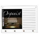 Organ case dry erase board