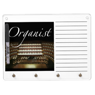 Organ case dry erase board