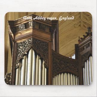 Organ case tower, Bath Abbey, England Mousepads