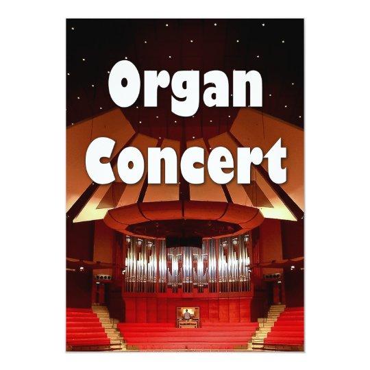 Organ concert invitation 2