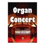 "Organ concert invitation 2 5"" x 7"" invitation card"