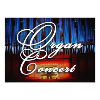 Organ concert invitation - blue facade landscape