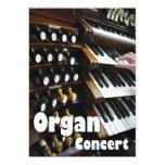 "Organ concert invitation - keyboards 5"" x 7"" invitation card"