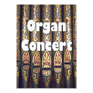 Organ concert invitation - pipes
