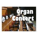 Organ concert invite - French organ console