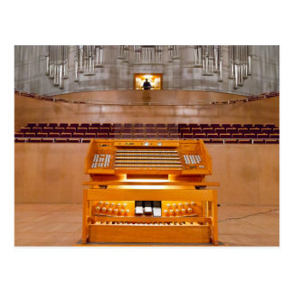 organ console postcard