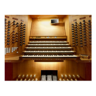 Organ console, Shanghai Postcard