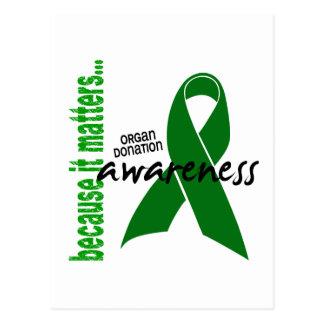 Organ Donation Awareness Post Card