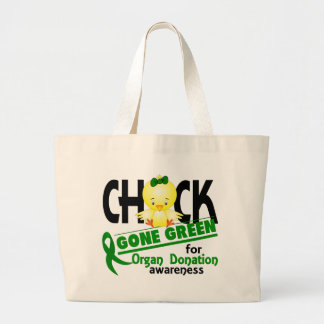 Organ Donation Chick Gone Green 2 Tote Bags