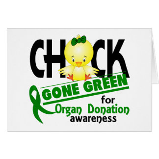 Organ Donation Chick Gone Green 2 Greeting Cards