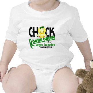 Organ Donation Chick Gone Green 2 Baby Bodysuits