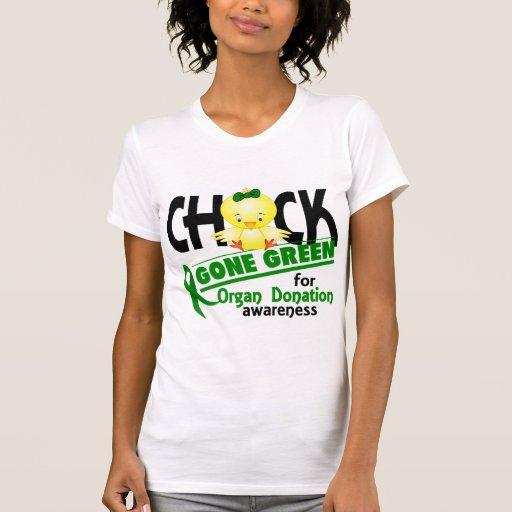 Organ Donation Chick Gone Green 2 Tshirts
