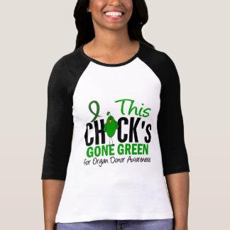 ORGAN DONATION Chick Gone Green T-Shirt