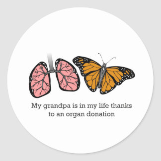 Organ donation classic round sticker