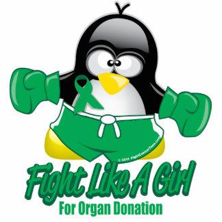 Organ Donation Fighting Penguin Cutout