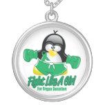 Organ Donation Fighting Penguin Jewelry