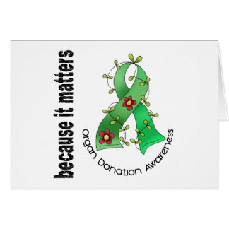 Organ Donation Flower Ribbon Cards
