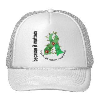 Organ Donation Flower Ribbon Trucker Hat