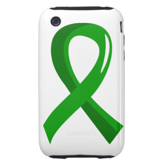 Organ Donation Green Ribbon 3 Tough iPhone 3 Cases