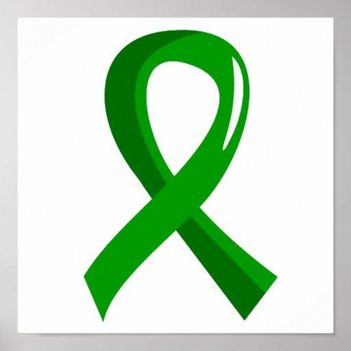 organ donation green ribbon 3 print zazzle