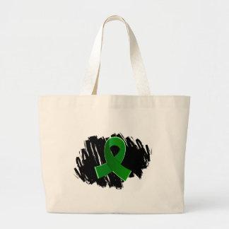 Organ Donation Green Ribbon With Scribble Bag