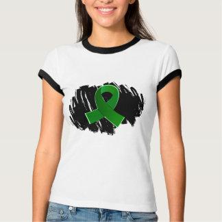 Organ Donation Green Ribbon With Scribble T-Shirt