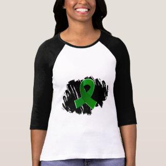 Organ Donation Green Ribbon With Scribble T Shirt