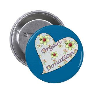 Organ Donation Pinback Button