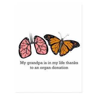 Organ donation postcard