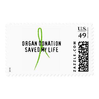 Organ Donation Saved My Life Stamp