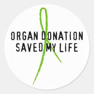 Organ Donation Saved My Life Sticker