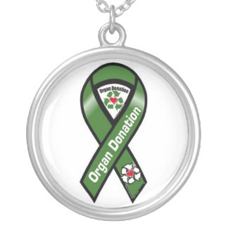 Organ Donation Supporter Round Pendant Necklace