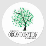 Organ Donation Tree Round Stickers