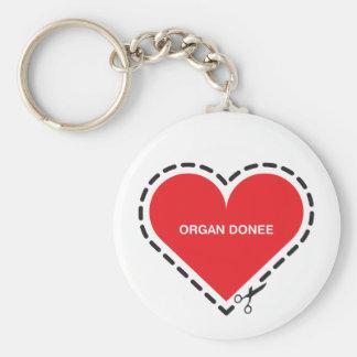 Organ Donee Keychain