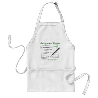 Organ Donor Autograph Adult Apron