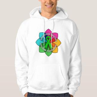 Organ Donor Awareness Matters Petals Hooded Sweatshirts