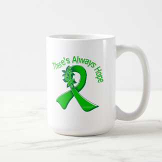 Organ Donor Awareness There's Always Hope Floral Coffee Mugs