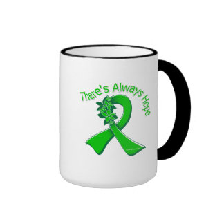 Organ Donor Awareness There's Always Hope Floral Coffee Mug