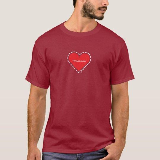 Organ Donor Basic Maroon T-shirt