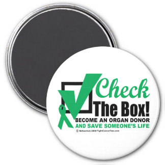 Organ Donor Check the Box Magnet