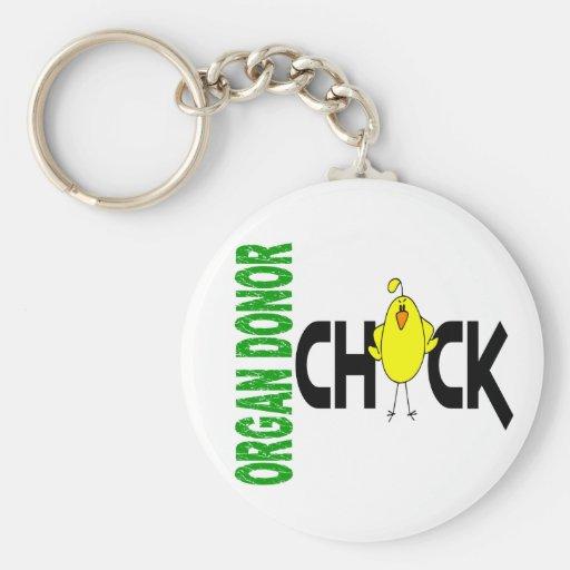 Organ Donor Chick 1 Basic Round Button Keychain