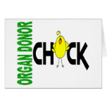 Organ Donor Chick 1 Greeting Card