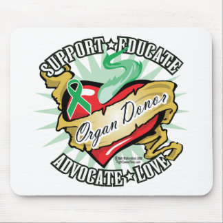 Organ Donor Classic Tattoo Mouse Mat