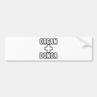ORGAN+DONOR-DR BUMPER STICKER