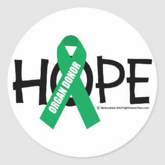 Organ Donor Hope Sticker