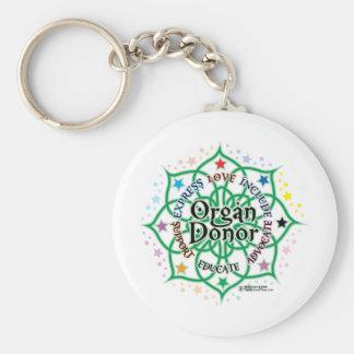 Organ Donor Lotus Keychain