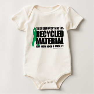 Organ Donor Recycled Material Baby Bodysuit
